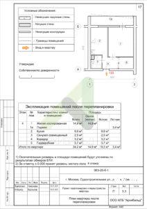 план помещения после планировки